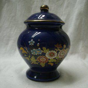 Vintage Cobalt Blue Floral Ginger Jar Diffuser
